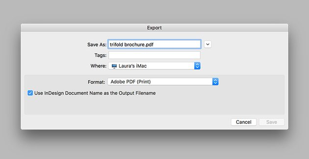 export the trifold brochure