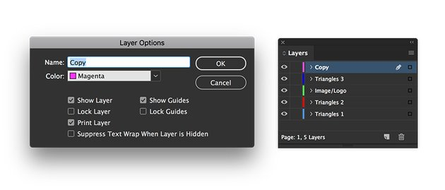 Create new layers for each stage of the cover