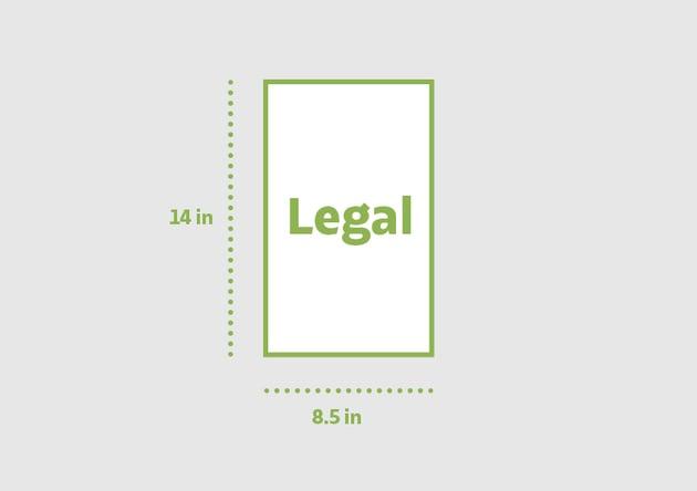 Legal 85 x 14 in
