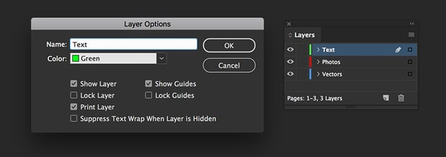 Add layers names vectors photos and text