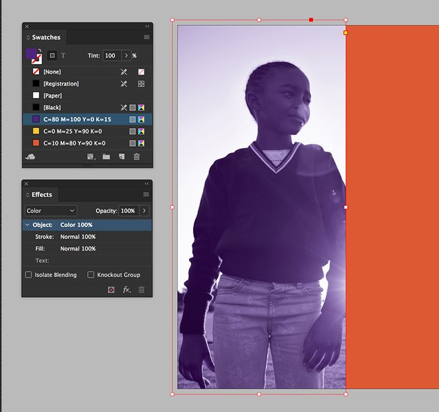 create an overlay rectangle to achieve even color grading