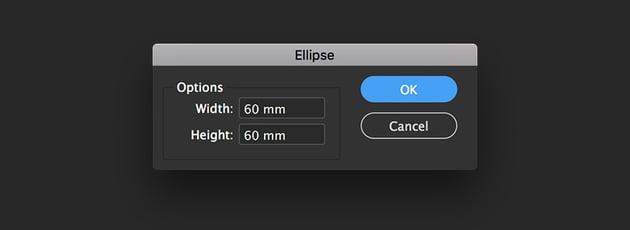 create an ellipse