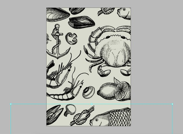 using the direct selection tool move the image to create a seamless pattern