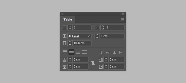 add more rows by using the table panel