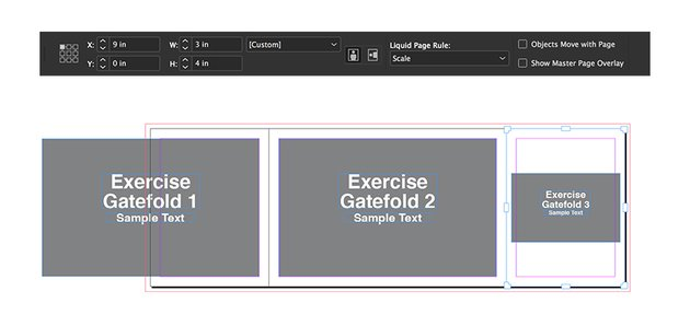 select the gatefold 3 page this time set the liquid page rule to scale and resize the width
