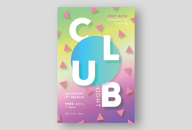 How to Create a Pastel Neon Club Flyer in Adobe InDesign