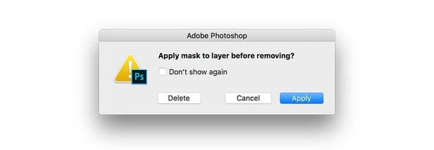 delete the layer mask