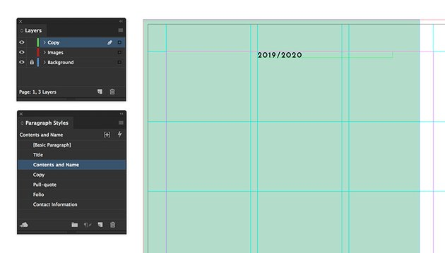 add a text frame to include the year