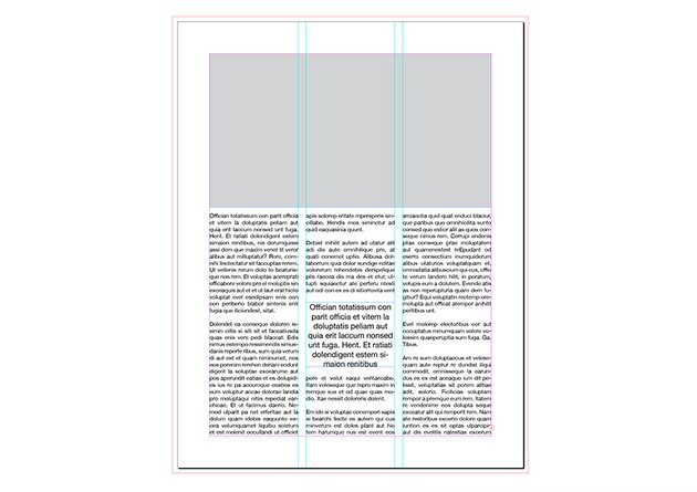 three columns magazine layout