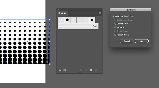 open the brushes panel and drag the tile into the panel