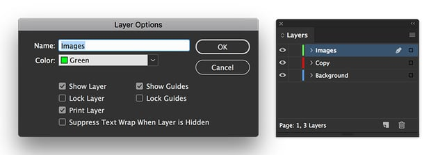 create separate layers