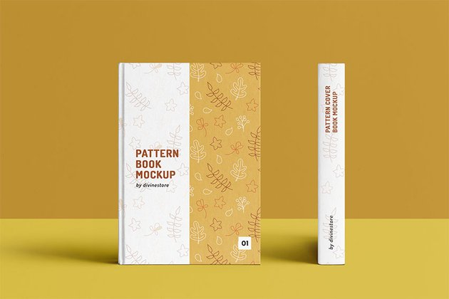 Pattern Cover Book Mock Up