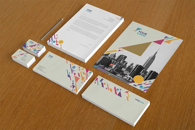 Colorful Shapes Stationery