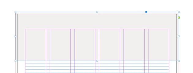 create a rectangle on the top of the newsletter template