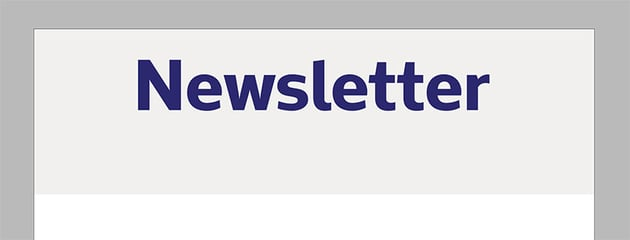 add a title to the cover of the church newsletter template