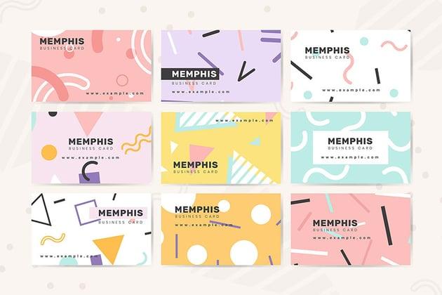 Memphis Name Card Design Vector