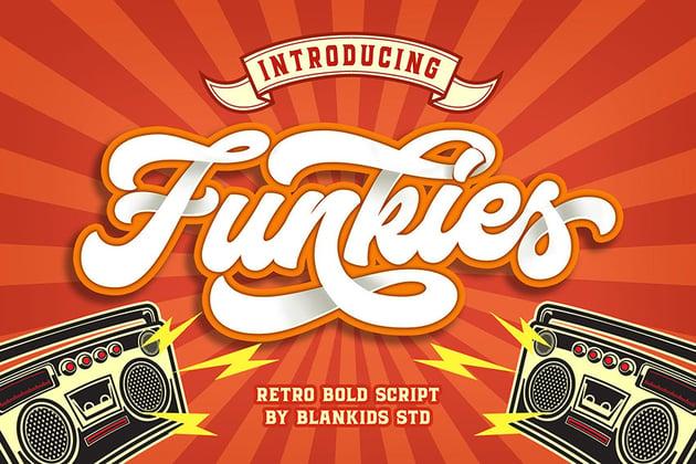 Funkies disco font