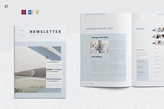 Bulletin Newsletter Template