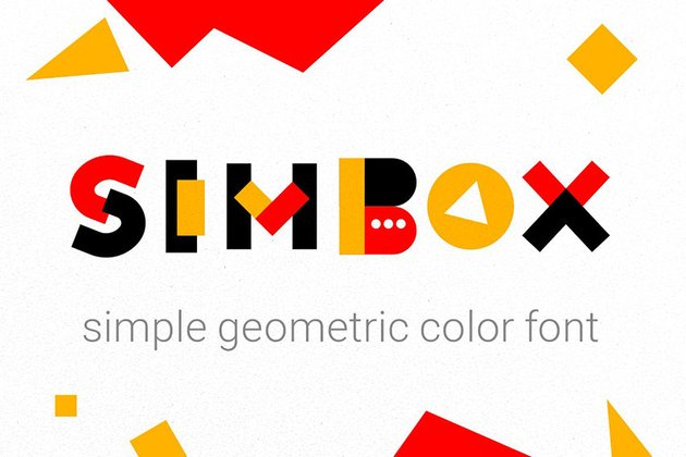 Simbox Geometric Font