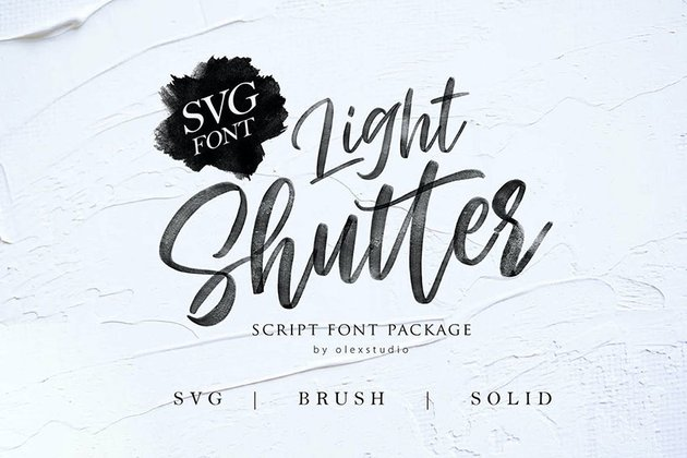 Light Shutter SVG Font
