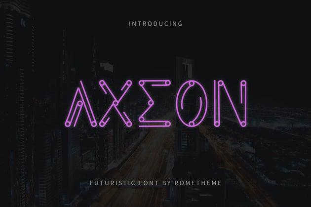 Axeon Aesthetic Font