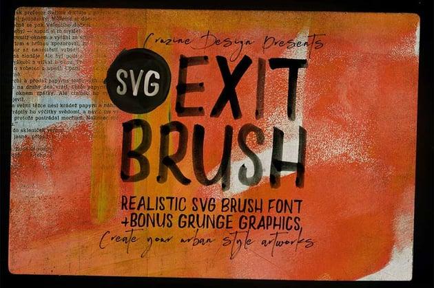 Exit Brush  SVG Font