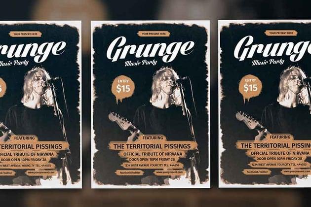 Grunge Music Flyer