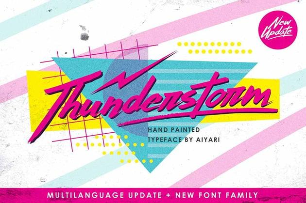 Thunderstorm 90s Aesthetic Font