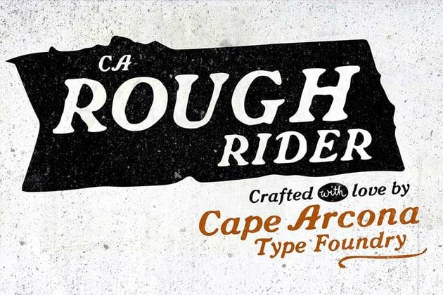Futura font pairing CA Rough Rider