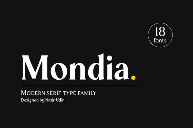 Futura font pairing Mondia