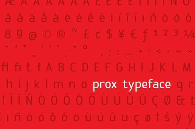 Gotham font alternative Prox