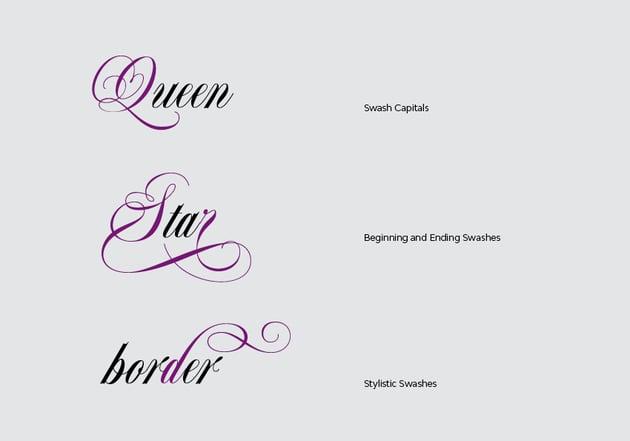 Swash Fonts Categories