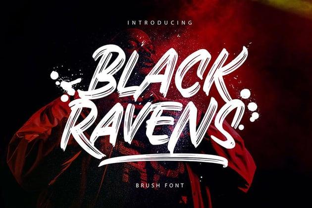 Black Ravens, magazine letter font