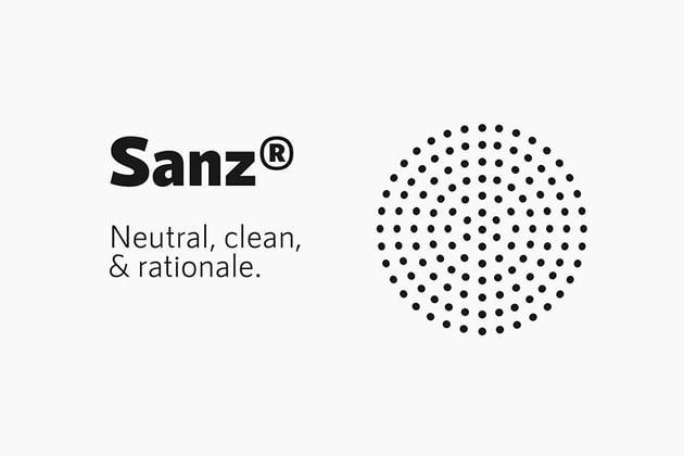 Sanz, magazine letter font