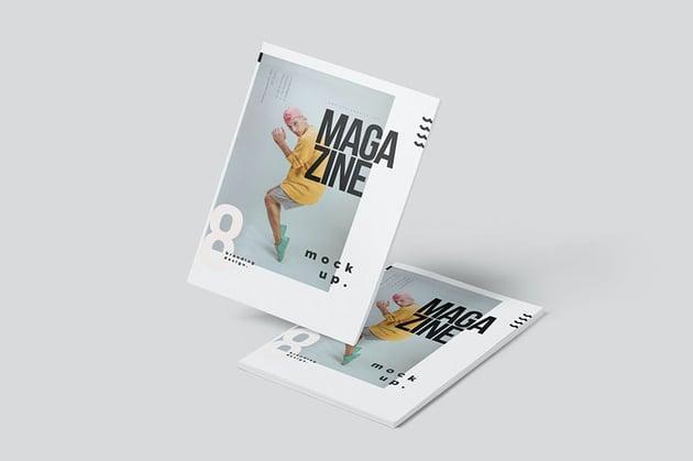 Magazine Mockup, magazine letter font