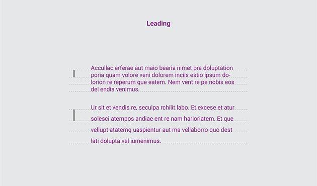 Leading typography