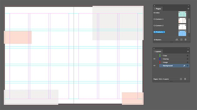 Add rectangles to the background