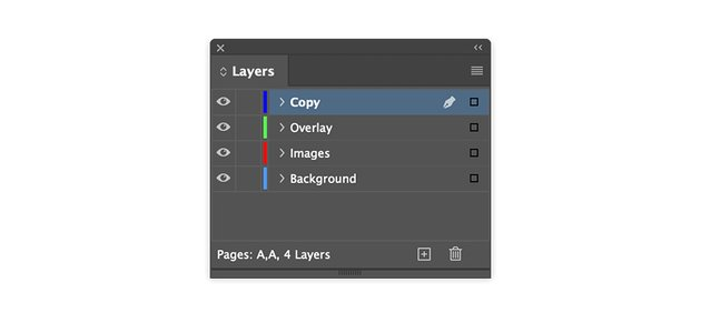 Create layers on the product catalogue template