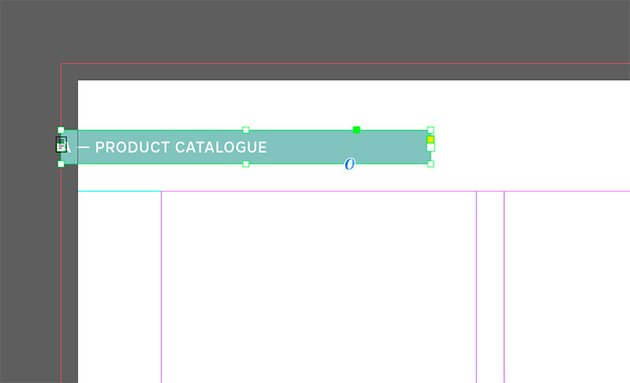 Add page numbers to your product catalogue template