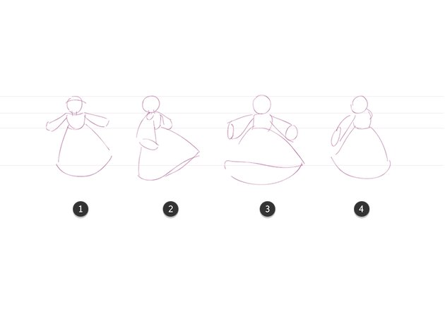 Four key poses