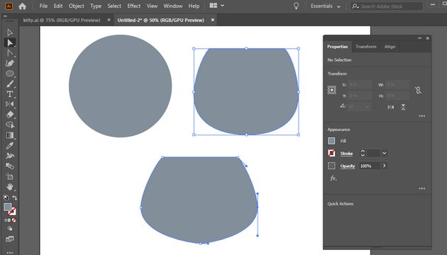 start forming a portrait from a 60x60 px circle