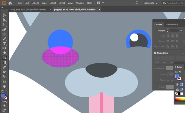 create the eyes from ellipses