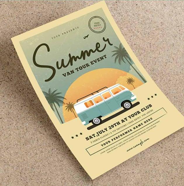 Vintage Summer Event Flyer