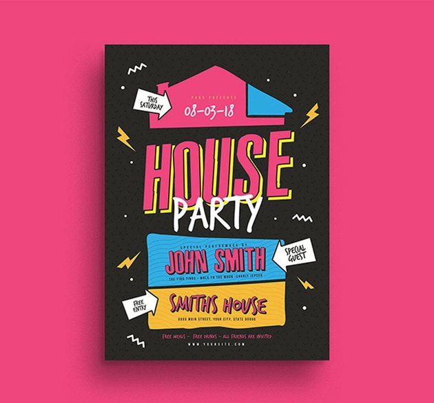 House Party Flyer
