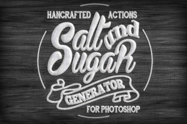 Salt and Sugar Generator Photoshop Actions