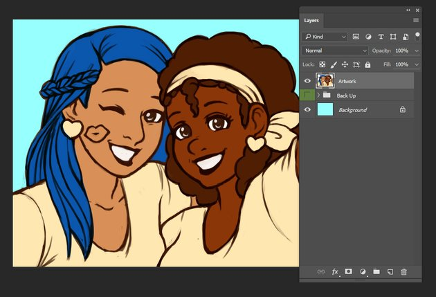 Preview of adjusted Background Layer
