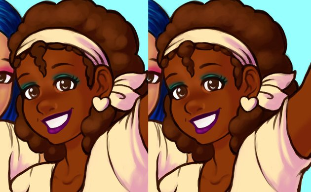 Example of afro rendering process
