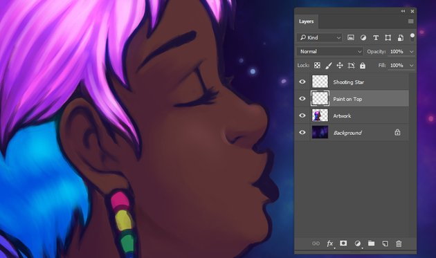 Using a Soft Round Brush to render the face