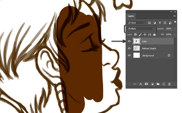 Utilizing Clipping Masks and Blending Modes when applying color
