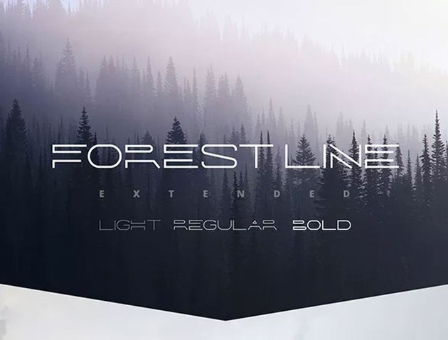 Forest Line Linear Font